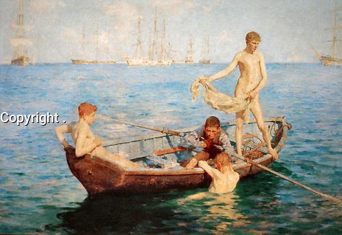 """Tuke, Henry Scott (1858ñ1929), """"August Blue,"""" 1893"""