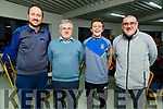 Members of Spa GAA club taking part in Scor Trath na gCeist in Currans GAA Complex on Friday night. L to r: John O'Donoghue, Seamus Clifford, Michael Ahern and Jimmy O'Sullivan Darcy.