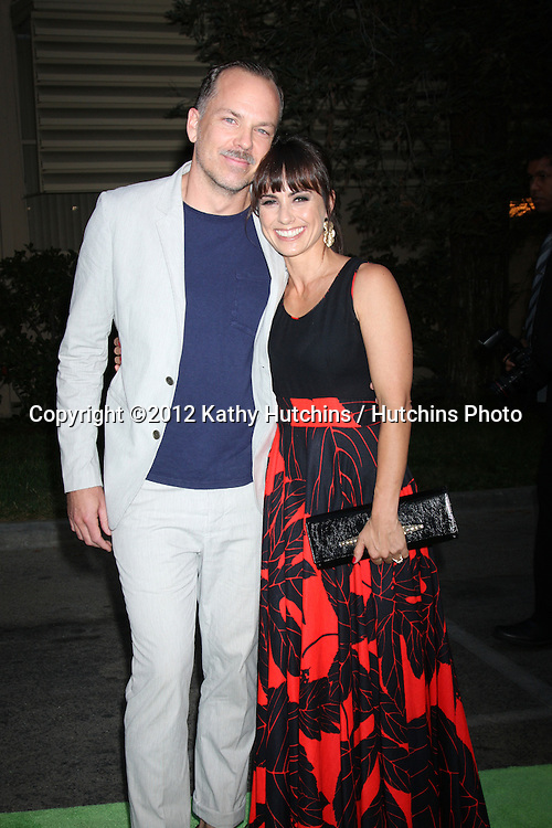 LOS ANGELES - SEP 29:  Russ Lamoureux, Constance Zimmer arrives at the 2012 Environmental Media Awards at Warner Brothers Studio on September 29, 2012 in Burbank, CA