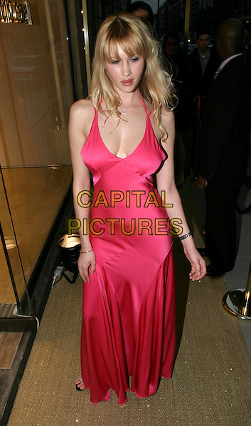 LANDI.Roberto Cavalli - store launch party.May 13th, 2004.full length, full-length, pink, silk, satin dress, plunging neckline, cleavage.www.capitalpictures.com.sales@capitalpictures.com.© Capital Pictures.
