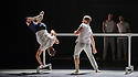 "London, UK. 20.04.2016. Balletboyz present the world premiere of their new production, ""Life"", at Sadler's Wells before embarking on a UK tour. The production features two new commissions by Javier de Frutos (""Fiction"") and Pontus Lidberg (""Rabbit""). The dancers are: Andreu Carruciu, Bradley Waller, Edward Pearce, Flavien Esmieu, Harry Price, Jordan Robson, Matthew Rees, Matthew Sandiford, Simone Donati, Marc Galves. The piece shown is: Fiction, by Javier de Frutos. Photograph © Jane Hobson."
