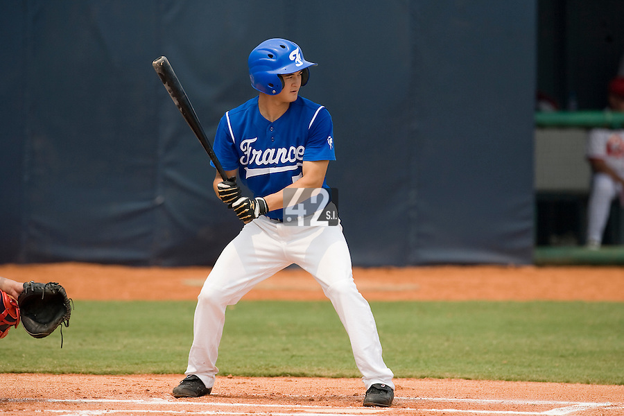 18 August 2007: Center Field #5 Kenji Hagiwara is seen at bat during the China 5-1 victory over France in the Good Luck Beijing International baseball tournament (olympic test event) at the Wukesong Baseball Field in Beijing, China.