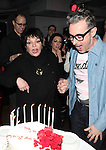 Grant Shaffer, Liza Minnelli & Alan Cumming attending the Liza Minnelli 67th Birthday Celebration at the Copa in New York City on 3/13/2013..