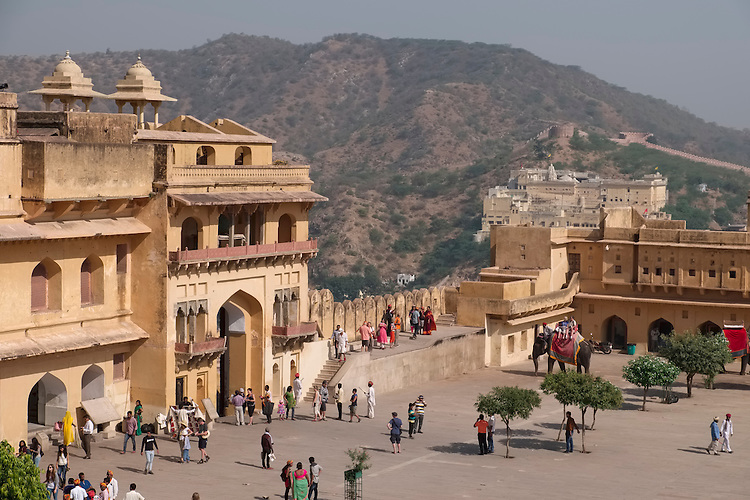 Built in 1592, the anesthetic ambiance of this formidable Fort is seen within its walls on a four-level layout plan in an opulent palace complex built with red sandstone and marble.