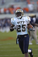 29 September 2007:  Pitt RB LeSean Shady McCoy (25)..The Virginia Cavaliers defeated the Pittsburgh Panthers 44-14 September 29, 2007 at Scott Stadium in Charlottesville, VA..