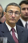 John Podesta, former White House Chief of Staff to President Clinton testifies before the United States House Committee on Government Reform in Washington, DC on March 1, 2001.  The committee is investigating the Marc Rich pardon granted by former U.S. President Bill Clinton during his final hours in office.<br /> Credit: Ron Sachs / CNP