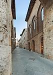 Europe, Italy, Tuscany, San Gimignano, Midieval Street