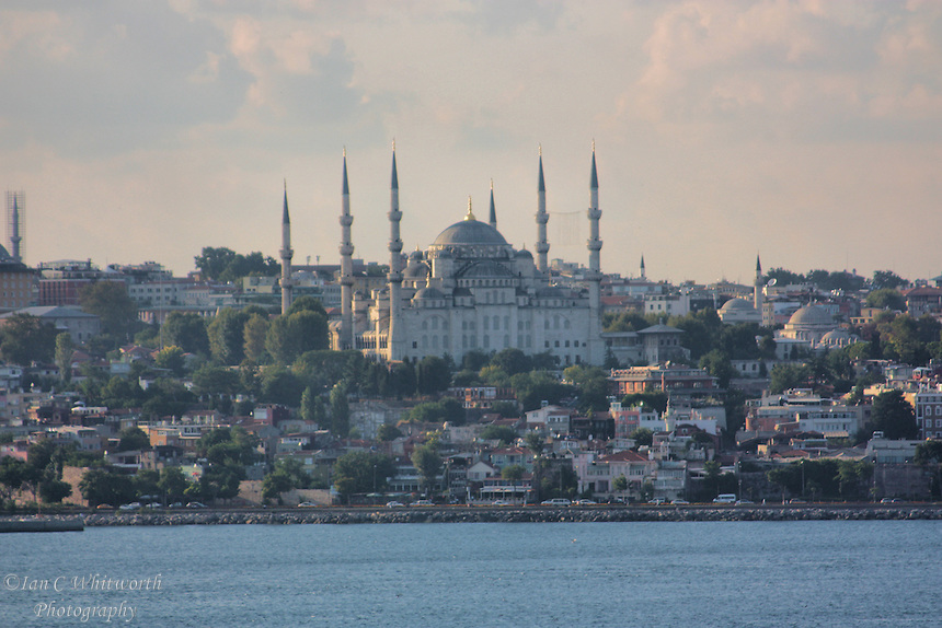 The Blue Mosque seen from the water.