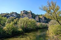 France, Tarn et Garonne, Quercy, Bruniquel, labelled Les Plus Beaux Villages de France (The Most beautiful Villages of France), the castles // France, Tarn-et-Garonne (82), Quercy, Bruniquel, labellisé Les Plus Beaux Villages de France, les châteaux