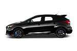 Car Driver side profile view of a 2017 Ford Focus RS 5 Door Hatchback Side View