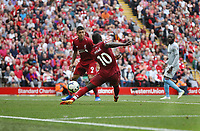 Liverpool's Sadio Mane scores his side's second goal <br /> <br /> Photographer Rob Newell/CameraSport<br /> <br /> The Premier League - Liverpool v West Ham United - Sunday August 12th 2018 - Anfield - Liverpool<br /> <br /> World Copyright &copy; 2018 CameraSport. All rights reserved. 43 Linden Ave. Countesthorpe. Leicester. England. LE8 5PG - Tel: +44 (0) 116 277 4147 - admin@camerasport.com - www.camerasport.com