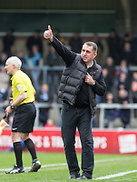Martin Allen Manager of Barnet gives thumbs up during the Sky Bet League 2 match between Wycombe Wanderers and Barnet at Adams Park, High Wycombe, England on 16 April 2016. Photo by Andy Rowland.