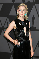 HOLLYWOOD, CA - NOVEMBER 11: Saoirse Ronan at the AMPAS 9th Annual Governors Awards at the Dolby Ballroom in Hollywood, California on November 11, 2017. Credit: David Edwards/MediaPunch /NortePhoto.com