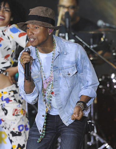 New York,NY-JUNE 05:Pharrell Williams performs in concert on the Today Show Summer Concert Series  In New York City on June 5, 2014. Credit: John Palmer/MediaPunch.
