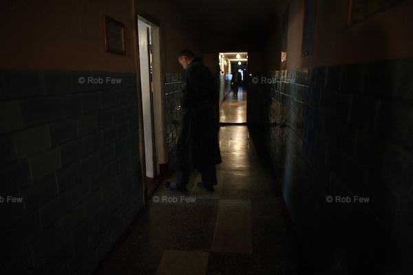 As well as education, the prison offers decent healthcare. Here a boy walks to be examined by medical staff.<br />