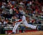 21 September 2018: Washington Nationals pitcher Jimmy Cordero on the mound against the New York Mets at Nationals Park in Washington, DC. The Mets defeated the Nationals 4-2 in the second game of their 4-game series. Mandatory Credit: Ed Wolfstein Photo *** RAW (NEF) Image File Available ***