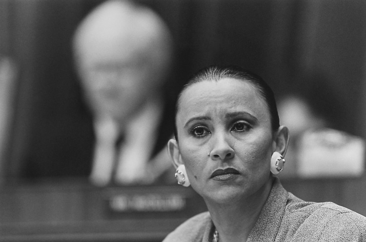 Rep. Nydia Velázquez, D-N.Y., in July 1994. (Photo by Maureen Keating/CQ Roll Call via Getty Images)