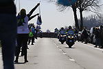 The peloton approach the first feed zone at Steenkerke during Gent-Wevelgem in Flanders Fields 2017 running 249km from Denieze to Wevelgem, Flanders, Belgium. 26th March 2017.<br /> Picture: Eoin Clarke | Cyclefile<br /> <br /> <br /> All photos usage must carry mandatory copyright credit (&copy; Cyclefile | Eoin Clarke)