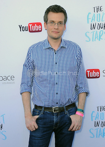 "LOS ANGELES, CA - MAY 14:  Author John Green at ""The Fault In Our Stars"" Live Stream Event at YouTube Space LA on May 14, 2014 in Los Angeles, California. Credit:  PGSK/MediaPunch"