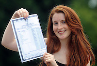 14-08-2013: Vicky Moynihan, Faha, Killarney, celebrates after getting eight A ones in her Leaving Certificate  at Presentation Secondary School Miltown, Co, Kerry on Wednesday.   Picture: Eamonn Keogh (MacMonagle, Killarney)