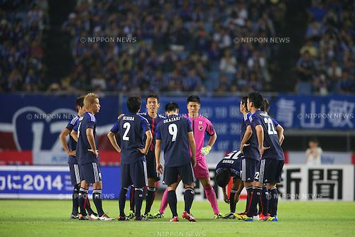 Japan team group (JPN),<br /> AUGUST 14, 2013 - Football / Soccer : <br /> KIRIN Challenge Cup 2013 match <br /> between Japan 2-4 Uruguay <br /> at Miyagi Stadium, Miyagi, Japan.<br />  (Photo by AFLO SPORT)