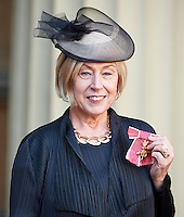 27 October 2016 - London, England - Eileen Cooper after receiving her Officer of the Order of the British Empire OBE at Buckingham Palace in London. Photo Credit: Alpha Press/AdMedia