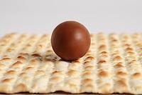 Jewish passover matzoh and chocolate
