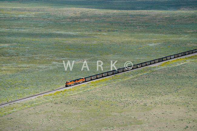 Coal train BNSF eastern Colorado. Aug 20, 2014. 812943