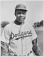 """Jackie Robinson in his Brooklyn Dodgers uniform"", 1950"