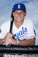 Tyler Straub (26) of the Burlington Royals poses for a photo prior to the game against the Bluefield Blue Jays at Burlington Athletic Stadium on June 28, 2016 in Burlington, North Carolina.  The Royals defeated the Blue Jays 4-0.  (Brian Westerholt/Four Seam Images)