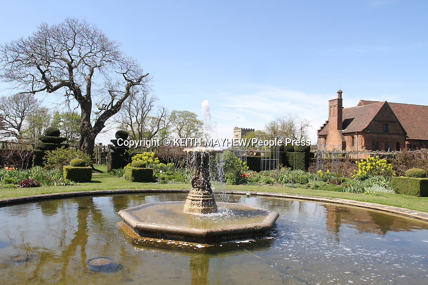 Hatfield House and Gardens bathed in the May Bank Holiday weekend sunshine. Hatfield Palace was the childhood home and favourite residence of Queen Elizabeth I. The Stately home was built in  1611 and is the family residence of the Cecil family. It is a prime example of Jacobean architecture, Hatfield, Herts, UK  - May 3rd 2013..Photo by Keith Mayhew