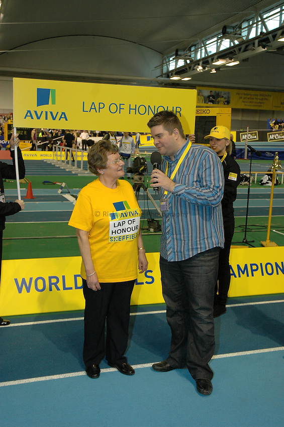 Photo: Tony Oudot/Richard Lane Photography. Aviva World Trials & UK Championships. 14/02/2010. .Lap of Honour Winner Sheila Bolland.