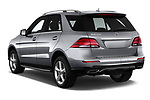 Car pictures of rear three quarter view of a 2018 Mercedes Benz GLE Base 5 Door SUV angular rear