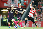 Athletic de Bilbao's Benat Etxebarria (r) and FC Barcelona's Leo Messi during La Liga match. August 28,2016. (ALTERPHOTOS/Acero)