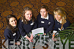 Aisling Mooney, Grace Earley, Meave O'Brien and Sharon O'Mahony from Presentation Secondary school, Tralee pictured at Ceiliu?radh nO?g at the Brandon hotel on Thursday..