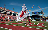 NWA Democrat-Gazette/BEN GOFF @NWABENGOFF<br /> Arkansas takes on New Mexico State Saturday, Sept. 30, 2017, at Razorback Stadium in Fayetteville.