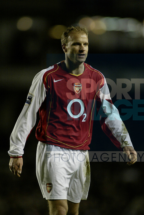 Arsenal's Dennis Bergkamp in their premiership match at Highbury, London, January 23,2005...Pic © Simon Bellis, 33 Parkway New Mills, High Peak, SK22 4DU..Any problems call 07980659747 or 01663 746519. .email: simon@simonbellis.com