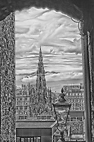 A Scott Monument B&W Scenic View.