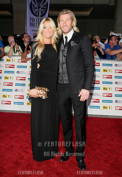 Robbie Savage and wife Sarah arriving for the 2011 Pride Of Britain Awards, at the Grosvenor House Hotel, London. 04/10/2011 Picture by: Alexandra Glen / Featureflash