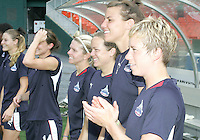 Subs bench of Washington Freedom during a WPS match against Chicago Red Stars at RFK Stadium on June 13 2009, in Washington D.C.