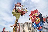 RECIFE, PE, 28.02.2014 - GALO DA MADRUGADA - vista do boneco do Galo da Madrugada, símbolo do maior bloco de Carnaval do Mundo, em Recife(PE). O desfile deste ano, que começa no sábado(01), será em homenagem ao poeta e escritor Ariano Suassuna. (Foto: William Volcov / Brazil Photo Press).