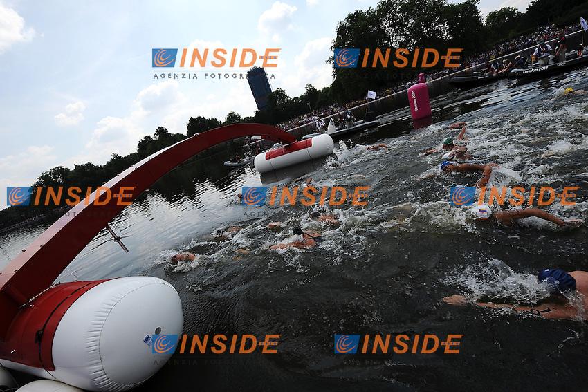 .Men's Marathon 10Km Open Water Swimming - Nuoto Acque Libere.London 10/8/2012 Hide Park.London 2012 Olympic games - Olimpiadi Londra 2012.Foto Andrea Staccioli Insidefoto