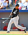 2 March 2011: Florida Marlins outfielder Dewayne Wise in action during a Spring Training game against the Washington Nationals at Space Coast Stadium in Viera, Florida. The Nationals defeated the Marlins 8-4 in Grapefruit League action. Mandatory Credit: Ed Wolfstein Photo