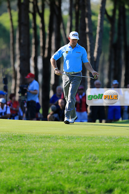 Lee Westwood (ENG) during the final round at the Turkish Airlines Open by the Ministry of Youth and Sport, The Montgomerie Maxx Royal, Antalya, Turkey. Picture Fran Caffrey www.golffile.ie