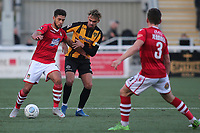 Rekeil Pyke of Wrexham shields the ball from Maidstone's Michael Philips during Maidstone United vs Wrexham, Vanarama National League Football at the Gallagher Stadium on 17th November 2018