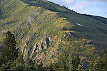 The north side of Mount Sentinel at Hellgate Canyon, the east entrance to the Missoula, Montana valley