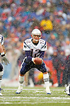 New England Patriots quarterback Tom Brady gets the snap against the Buffalo Bills at Ralph Wilson Stadium in Orchard Park, NY, on December 11, 2005 . The Patriots defeated the Bills 35-7. Mandatory Photo Credit: Ed Wolfstein