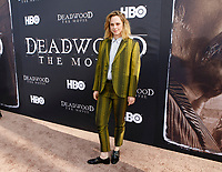 Los Angeles, CA - MAy 14:  Fiona Dourif attends the Los Angeles Premiere of HBO's 'Deadwood' at Cinerama Dome on May 14 2019 in Los Angeles CA. <br /> CAP/MPI/CSH/IS<br /> &copy;IS/CSH/MPI/Capital Pictures
