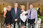 Tom and Elaine Murphy from Barraduff  celebrating christening of their son Tom photographed with god parents Laura Buckley, Ciaran Cullihane at the Torc Hotel Killarney last Saturday.