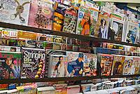 American, US, Book, shelf, store, Magazine rack, pattern